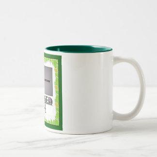 Blessed Be Broom Two-Tone Coffee Mug