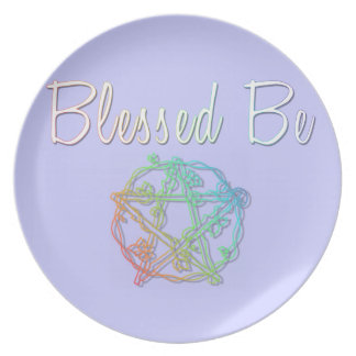 Blessed be decorative plate
