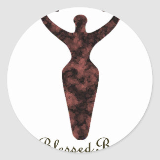 Blessed Be Pagan Goddess Round Sticker