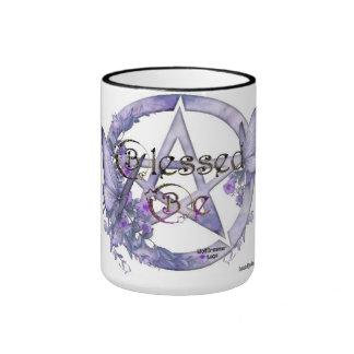 Blessed be pentagram coffee mug