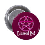 Blessed Be Pentagram Pinback Button
