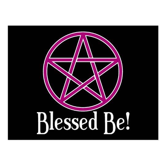 Blessed Be Pentagram Postcard