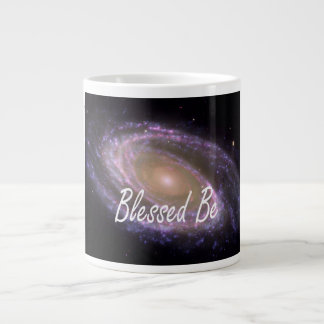 Blessed be saying against galaxy image large coffee mug