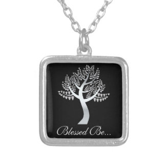 Blessed Be... Silver Plated Necklace