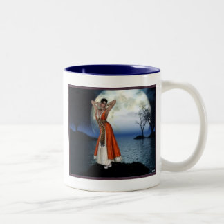 Blessed Be The Moon Two-Tone Coffee Mug