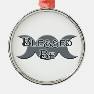 Blessed Be Triple Moon Ornament