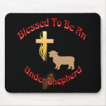 BLESSED BE UNDER SHEPHERD CIR DK MOUSE PAD
