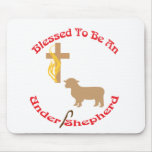 BLESSED BE UNDER SHEPHERD CIR LT MOUSE PAD