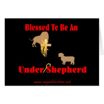 BLESSED BE UNDER SHEPHERD DK CARD