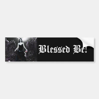 Blessed Be Wiccan Pagan Bumper Sticker