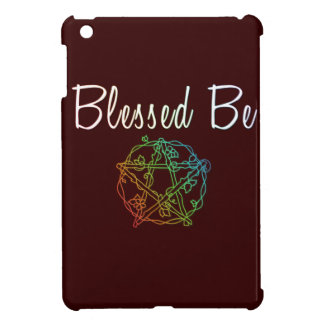 Blessed be with pretty heart pentacle iPad mini case