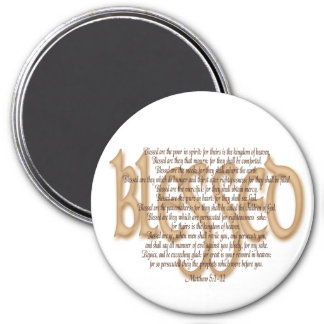 Blessed - Beatitudes 3 Inch Round Magnet