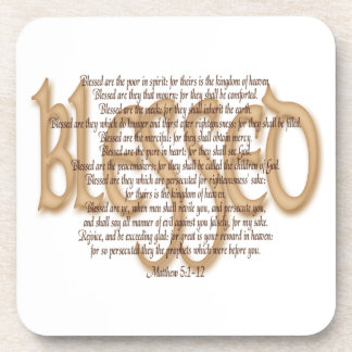 Blessed - Beatitudes Drink Coaster