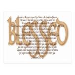 Blessed - Beatitudes Postcard