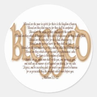 Blessed - Beatitudes Classic Round Sticker