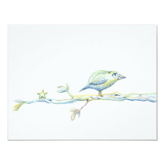 Blessed Bird On a Branch Card