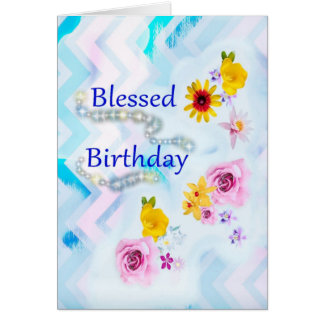Blessed Birthday Greeting Card