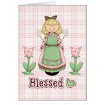 Blessed Blonde Angel Greeting Cards
