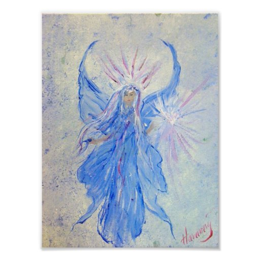Blessed Blue Fairy Angel by Harmony Print