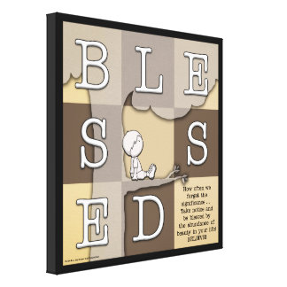 Blessed By  Abundance of Beauty Gallery Wrap Canvas