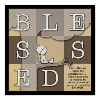 Blessed By  Abundance of Beauty Poster