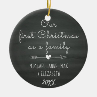 Blessed by Adoption First Christmas, Foster Care Ceramic Ornament