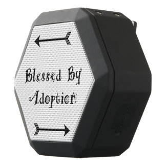 Blessed by Adoption - Foster Care Black Bluetooth Speaker
