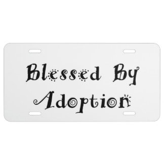 Blessed by Adoption - Foster Care License Plate