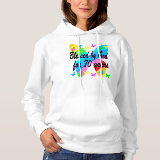 BLESSED BY GOD 70TH BUTTERFLY DESIGN HOODIE