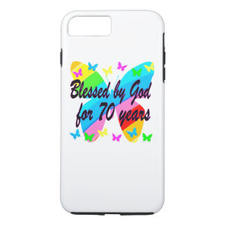 BLESSED BY GOD 70TH BUTTERFLY DESIGN iPhone 7 PLUS CASE