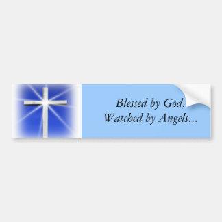 Blessed by God Bumper Sticker Car Bumper Sticker