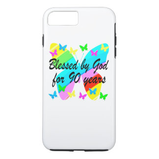 BLESSED BY GOD FOR 90 YEARS iPhone 8 PLUS/7 PLUS CASE