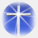 Blessed by God Sticker Round Sticker