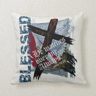 Blessed - Christian Bible Scripture John 10:29 Pillows