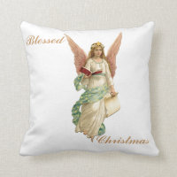 Blessed Christmas Angel Pillow 16