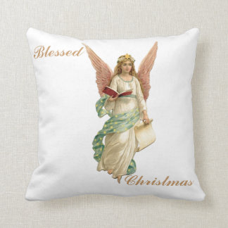 Blessed Christmas Angel Pillow 16""