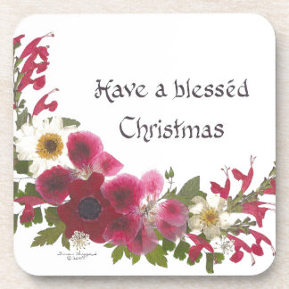 Blessed Christmas gifts Drink Coaster
