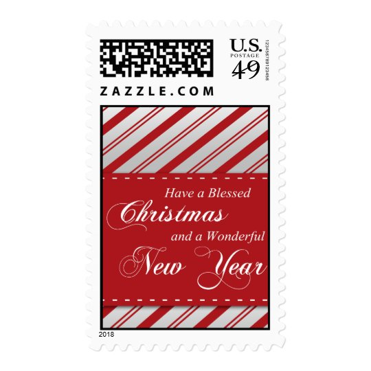 Blessed Christmas / Wonderful New Year Postage