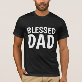 BLESSED DAD, Christian T-shirts