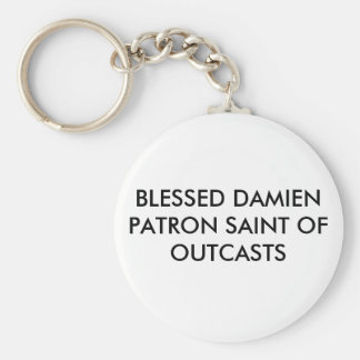 BLESSED DAMIEN PATRON SAINT OF OUTCASTS KEYCHAIN