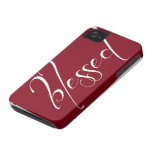 Blessed Deep Red Statement iPhone 4s Case iPhone 4 Cover