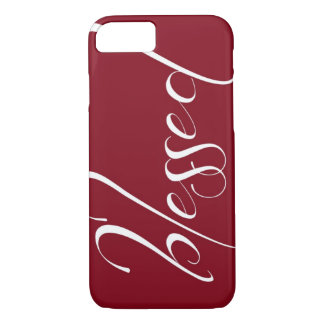 Blessed Deep Red Statement iPhone 7 case
