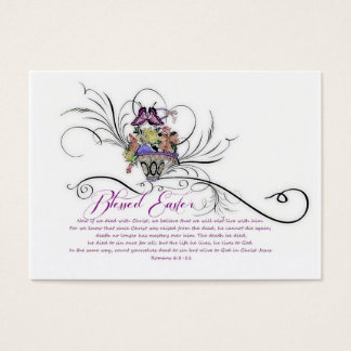 Blessed Easter sharing Business Card