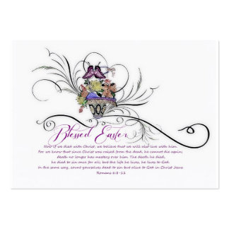 Blessed Easter sharing Large Business Card