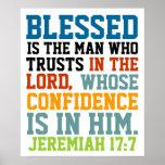Blessed es el 17:7 de Jeremiah del verso de la bib Poster