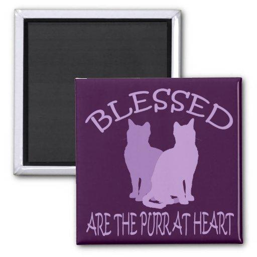 Blessed es el ronroneo en el corazón imán