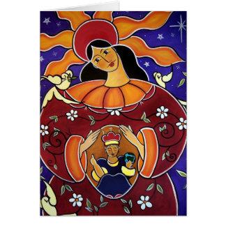 Blessed es la fruta de Thy matriz en enero Tarjeta De Felicitación