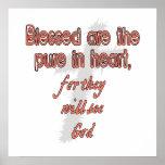 Blessed es la pura en corazón poster