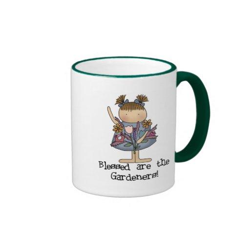 Blessed es las camisetas y los regalos de los jard tazas de café