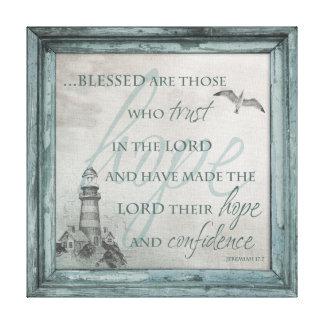 Blessed es las que confían en en el señor Canvas Impresión En Tela